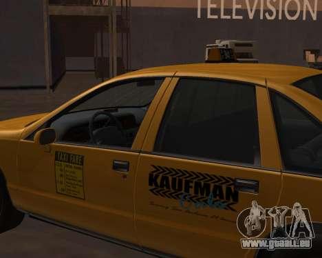 Chevrolet Caprice Taxi Kaufman für GTA San Andreas rechten Ansicht