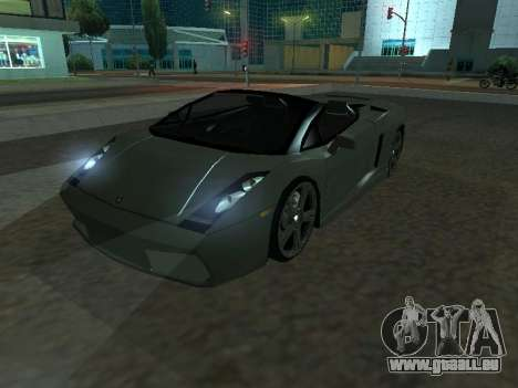 Lamborghini Galardo Spider pour GTA San Andreas