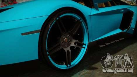 Lamborghini Aventador Itasha Rias Gremory pour GTA San Andreas vue arrière