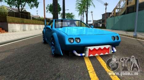 New Buffalo Custom pour GTA San Andreas vue arrière