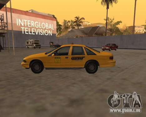 Chevrolet Caprice Taxi Kaufman für GTA San Andreas linke Ansicht