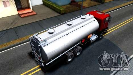 GTA V MTL Dune Oil Tanker für GTA San Andreas rechten Ansicht