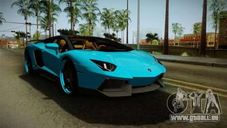 Lamborghini Aventador Itasha Rias Gremory für GTA San Andreas zurück linke Ansicht