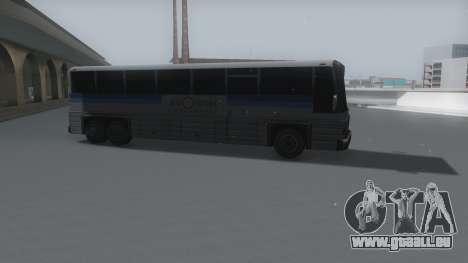 Coach Winter IVF pour GTA San Andreas sur la vue arrière gauche