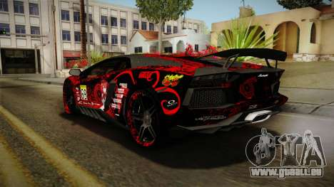 Lamborghini Aventador Itasha Rias Gremory für GTA San Andreas Räder