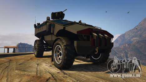 GTA 5 Punisher Black Armed Version vue arrière