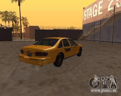 Chevrolet Caprice Taxi Kaufman für GTA San Andreas zurück linke Ansicht