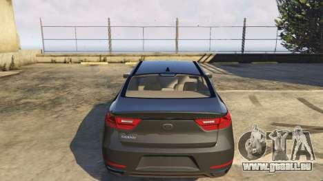 GTA 5 Kia Cadenza 2017 droite vue latérale