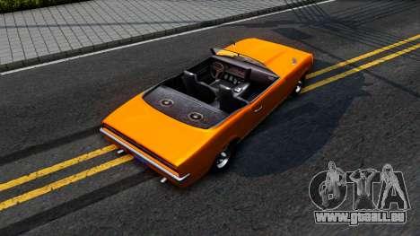 GTA V Declasse Vigero Retro Rim pour GTA San Andreas vue arrière