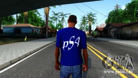 T-Shirt PS4 pour GTA San Andreas troisième écran