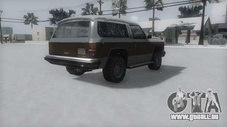 Rancher Winter IVF pour GTA San Andreas laissé vue
