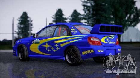 Subaru Impreza WRX STI WRC Rally 2005 für GTA San Andreas zurück linke Ansicht