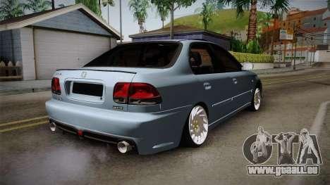 Honda Civic Turbo pour GTA San Andreas laissé vue
