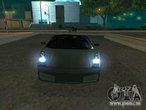 Lamborghini Galardo Spider pour GTA San Andreas laissé vue