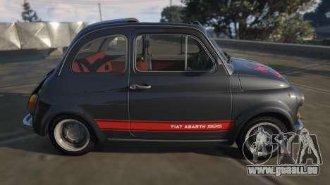 GTA 5 Fiat Abarth 595ss Street ver vue latérale gauche