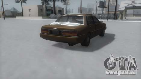 Primo Winter IVF pour GTA San Andreas sur la vue arrière gauche