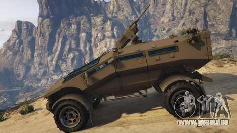 GTA 5 Punisher Khaki Armed Version vue latérale gauche