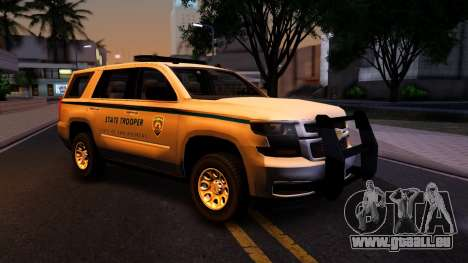 2015 Chevy Tahoe San Andreas State Trooper pour GTA San Andreas vue intérieure