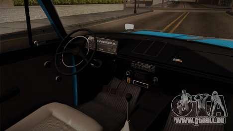 IZH 21251 pour GTA San Andreas vue intérieure