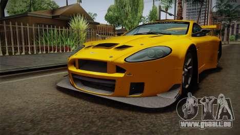 Aston Martin Racing DBRS9 GT3 2006 v1.0.6 Dirt für GTA San Andreas rechten Ansicht