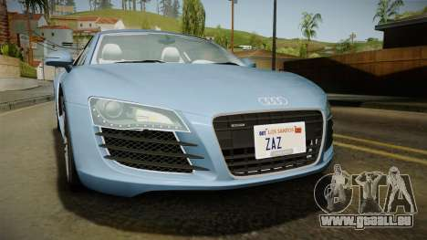 Audi R8 Coupe 4.2 FSI quattro EU-Spec 2008 YCH für GTA San Andreas Seitenansicht