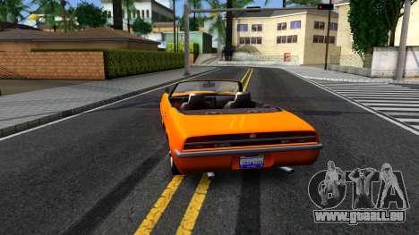 GTA V Declasse Vigero Retro Rim pour GTA San Andreas sur la vue arrière gauche