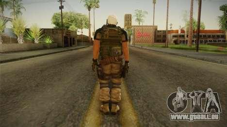 Resident Evil 6 - Chris Asia Bsaa pour GTA San Andreas troisième écran