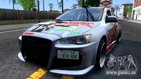Ogasawara Haruka MITSUBISHI EVO X Itasha für GTA San Andreas