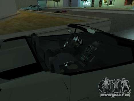 Lamborghini Galardo Spider pour GTA San Andreas vue de côté