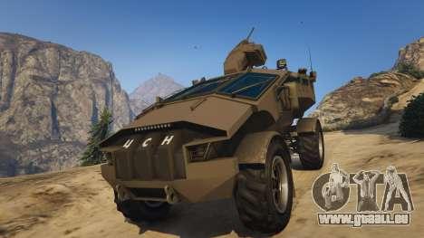 GTA 5 Punisher Khaki Armed Version Rückansicht
