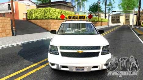 2007 Chevy Avalanche - Pilot Car für GTA San Andreas rechten Ansicht