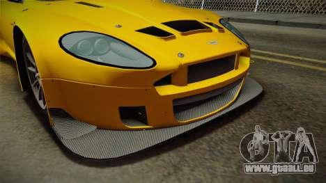 Aston Martin Racing DBRS9 GT3 2006 v1.0.6 Dirt für GTA San Andreas Innen
