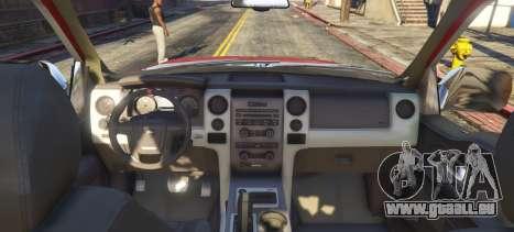 GTA 5 Ford F350 PowerStroke arrière vue latérale gauche
