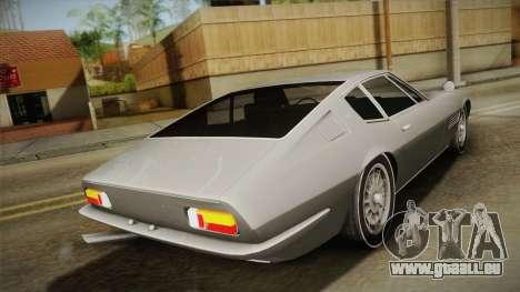 Maserati Ghibli v0.1 (Beta) pour GTA San Andreas laissé vue