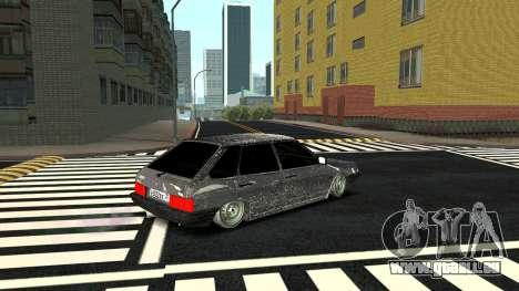 2109 version Hiver pour GTA San Andreas sur la vue arrière gauche