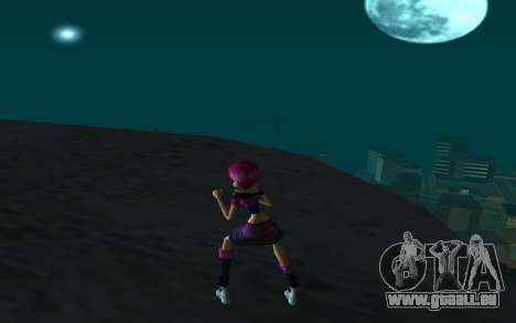 Tecna Rock Outfit from Winx Club Rockstars pour GTA San Andreas troisième écran