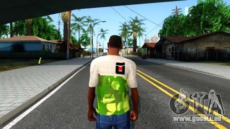 Design Camouflage T-Shirt für GTA San Andreas dritten Screenshot