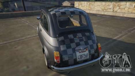 GTA 5 Fiat Abarth 595ss Racing ver arrière vue latérale gauche