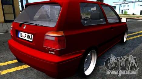 Volkswagen Golf Mk3 1997 für GTA San Andreas zurück linke Ansicht