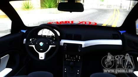 BMW E46 Touring Facelift pour GTA San Andreas vue intérieure