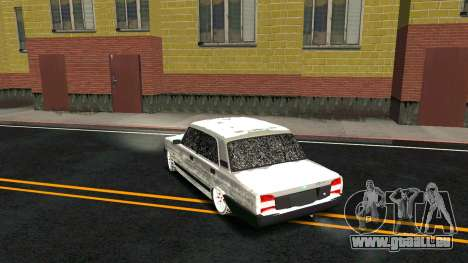 2107 Classique 2 Winter edition pour GTA San Andreas vue de dessous
