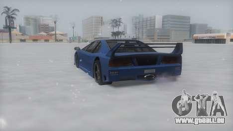 Turismo Winter IVF pour GTA San Andreas sur la vue arrière gauche
