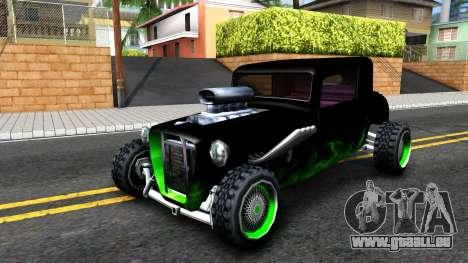 Green Flame Hotknife Race Car für GTA San Andreas