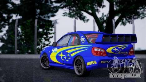 Subaru Impreza WRX STI WRC Rally 2005 für GTA San Andreas linke Ansicht