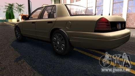 Ford Crown Victoria Unmarked 2009 pour GTA San Andreas sur la vue arrière gauche