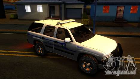2004 Chevy Tahoe State Wildlife pour GTA San Andreas vue arrière