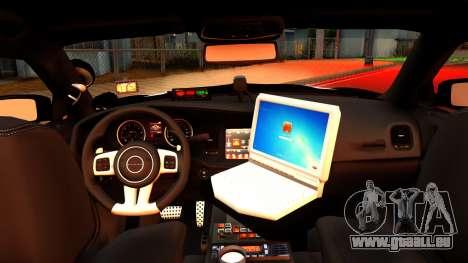2014 Dodge Charger Cleveland TN Police pour GTA San Andreas vue de droite