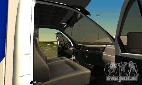 Gazelle 3302 pour GTA San Andreas vue de dessus