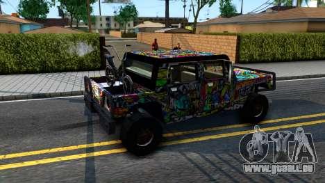 Sticker Patriot für GTA San Andreas Rückansicht