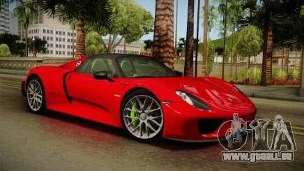 Porsche 918 Spyder 2013 Weissach Package SA pour GTA San Andreas
